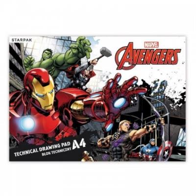 Blok techniczny  A4/20k biały Avengers 357143 .
