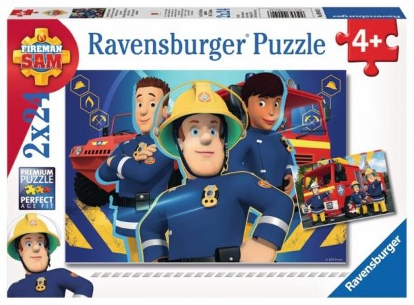 Puzzle 2x24 elementy -  Strażak Sam (PR-090426)