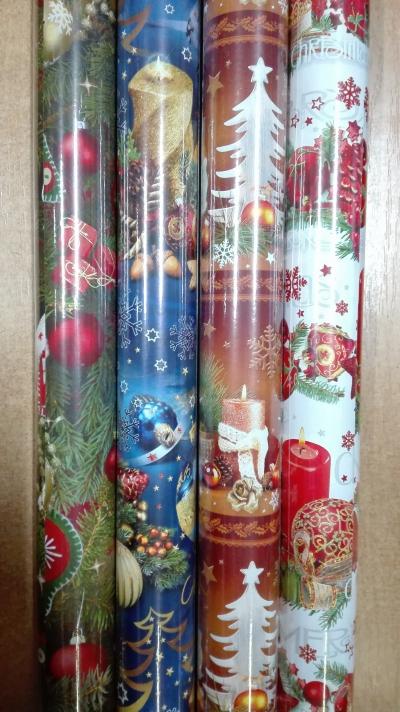 Papier świąteczny BN P2 stroiki zestaw 5 200x 70 MIX