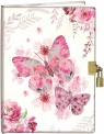 Pamiętnik z kłódką 13x18cm Motylki