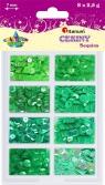 Cekiny Zestaw 8 odcieni, zielony (319385)