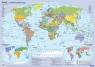 Mapa świata polityczna - plansza edukacyjna na ścianę i biurko