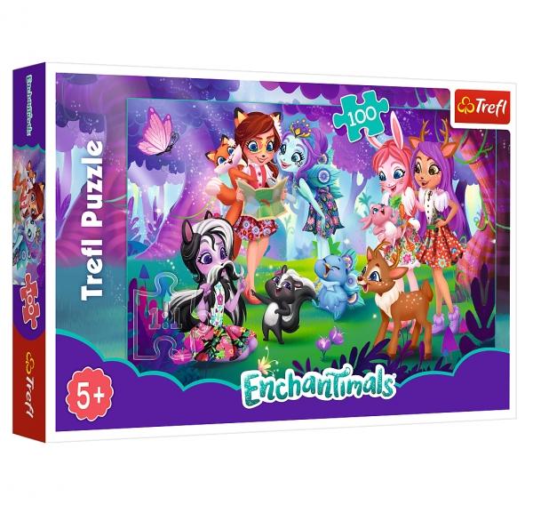 Puzzle 100: Enchantimals - Zabawa z przyjaciółmi (16348)