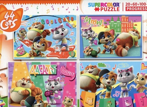 Puzzle 20+60+100+180 Progressive SuperColor 44 koty
