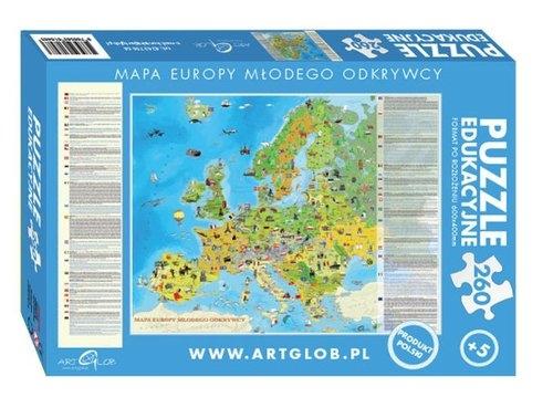 Puzzle Europa Młodego Odkrywcy 260 elementów (8483)