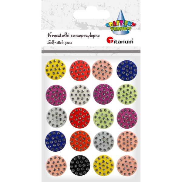Kryształki Titanum Craft-fun naklejka kryształki mix 20 szt
