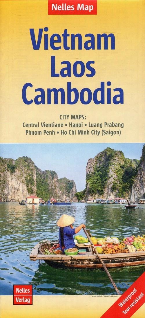 Wietnam Laos Kambodża Mapa 1:1,500 000