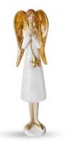 Figurka anioł stojący złoty CHRISTMAS JOY