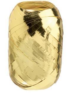 Wstążka kłębuszek 20m metallic złota