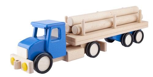 Duża ciężarówka z balami Niebieska (6250B)
