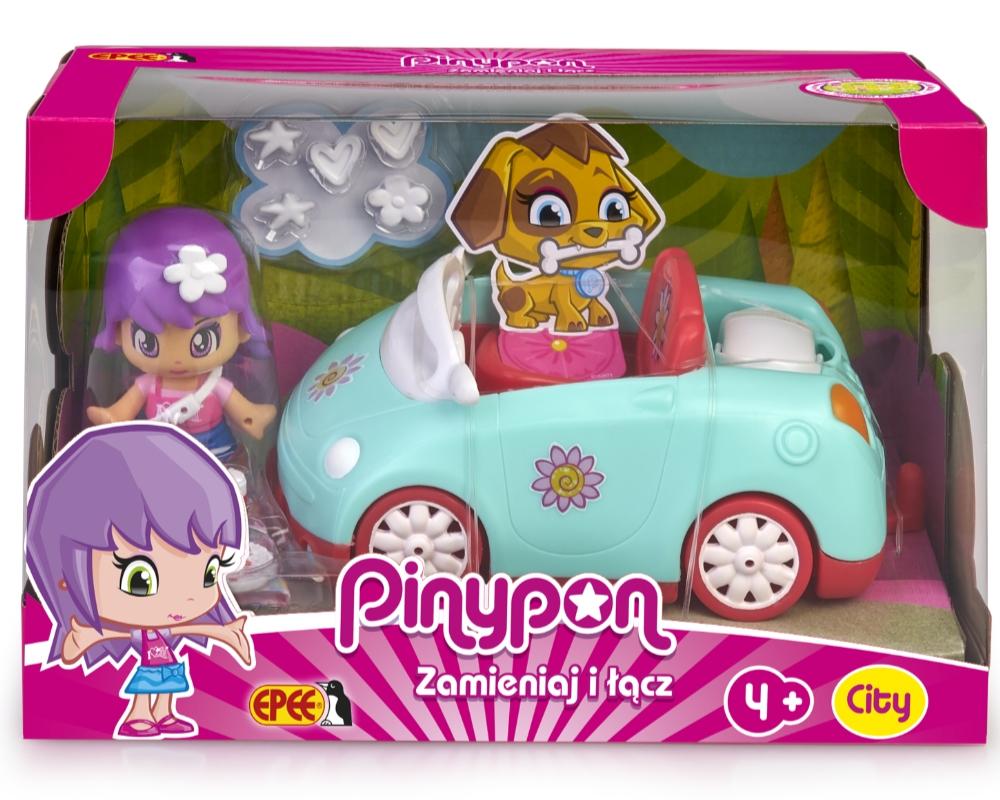 Pinypon City - Pojazd z laleczką 7cm i akcesoriami - Samochód (FPP16611)