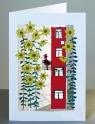 Karnet PM148 wycinany + koperta Słoneczniki