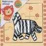 Puzzle drewniane układanka Zebra 9 elementów