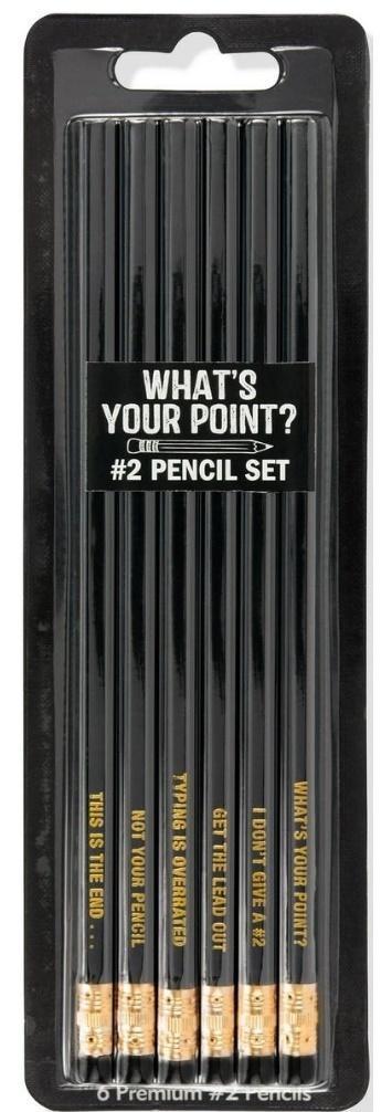 Zestaw czarnych ołówków 6szt