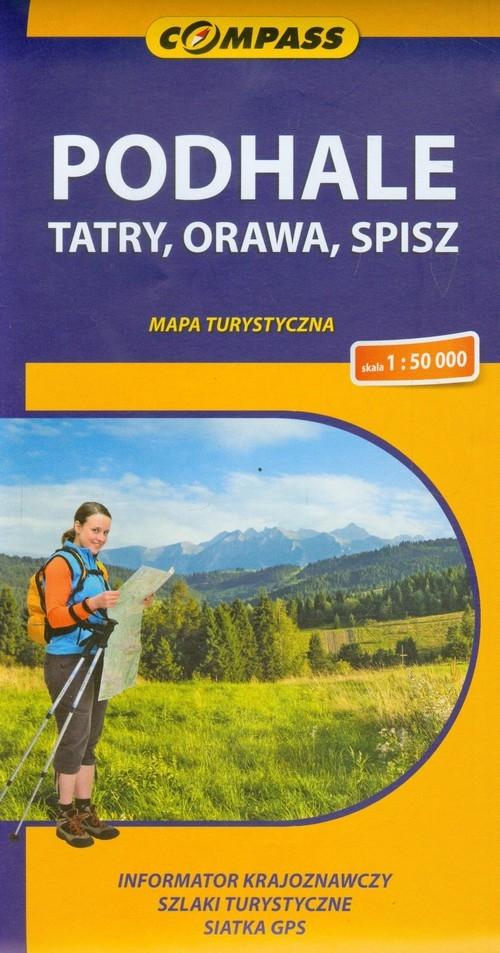 Podhale Tatry, Orawa, Spisz mapa turystyczna Siwicki Michał