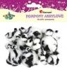 Pompony akryl animal biało-czarne 45szt.16073F