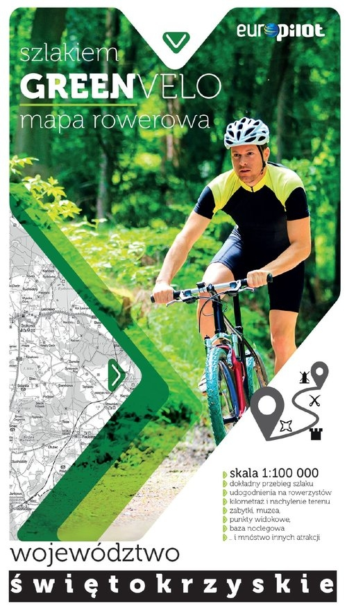 Green Velo mapa rowerowa Województwo świętokrzyskie