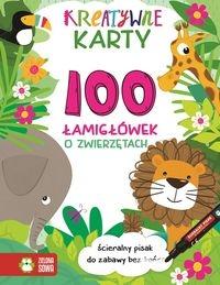 Kreatywne karty 100 łamigłówek o zwierzętach