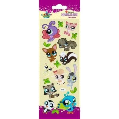 Naklejki do dekoracji słodkie zwierzaczki (359374)