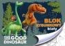 Blok rysunkowy A4 Dobry dinozaur  20 kartek z pierwszą stroną do kolorowania