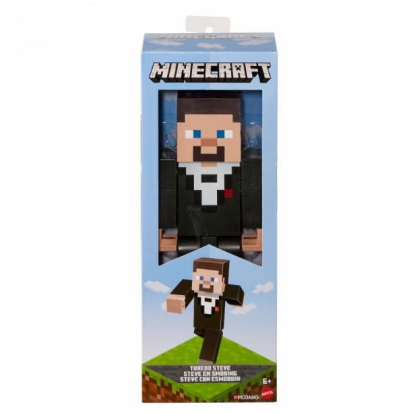 Figurka Minecraft duża Tuxedo Steve (FLC70/GNF21)