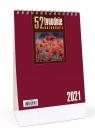 Kalendarz 2021 Biurkowy - 52T bordowy CRUX