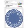 Serwetki papierowe okrągłe 11,5cm/35 szt. - niebieskie ciemne (414546)