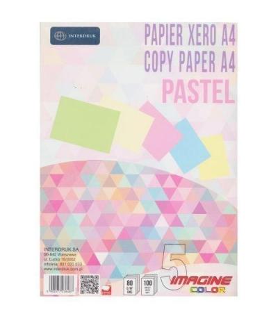 Papier ksero A4/100k - 5 kolorów Pastel x 20k (268276)