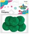 Pompony włóczkowe, 6 szt. 3cm - zielone