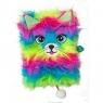 Pamiętnik z kłódką włochacz, A5 96k - Rainbow Cat