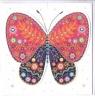 Karnet rozkładany - Motyl