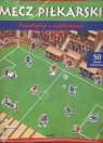 Mecz piłkarski. Panorama z naklejkami