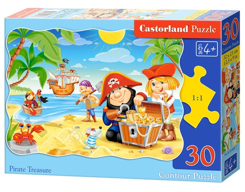 Puzzle konturowe Pirate Treasure 30 (03488)