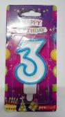 Świeczka urodzinowa - 3 (PTN-3)
