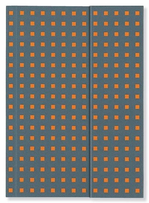 Notatnik A4 Quadro Grey on Orange
