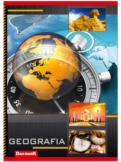 Zeszyt tematyczny Dan-Mark A5/60 geografia laminowany DANMARK