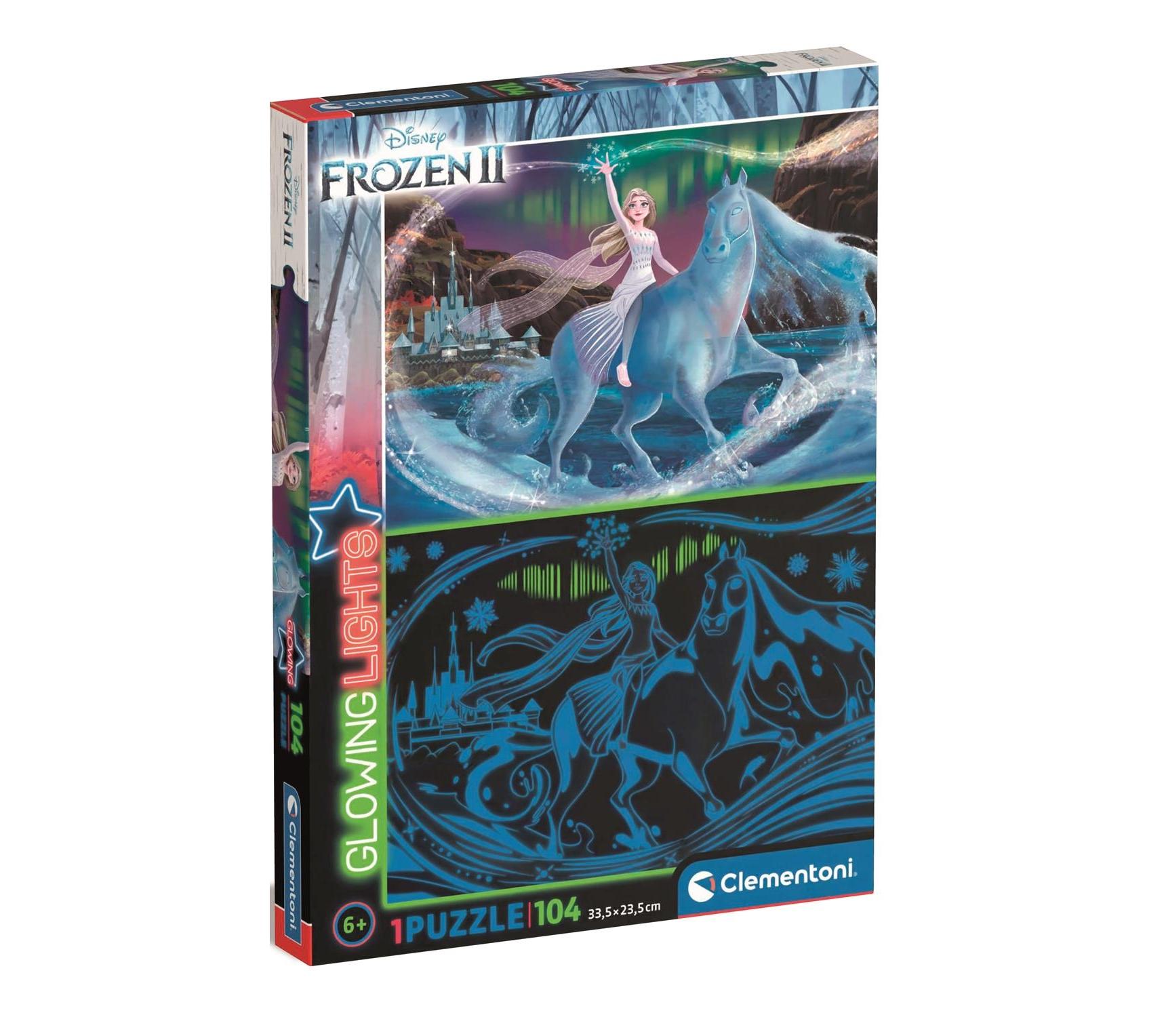 Clementoni, puzzle Glowing 104: Frozen 2 (27548)