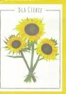Karnet B6 Kwiaty akwarela. Słonecznik