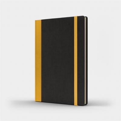 Notatnik A5 Pro M+ gładki czarny/żółty