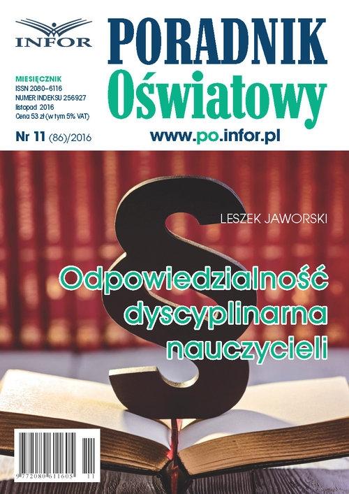 Odpowiedzialność dyscyplinarna nauczycieli Jaworski Leszek