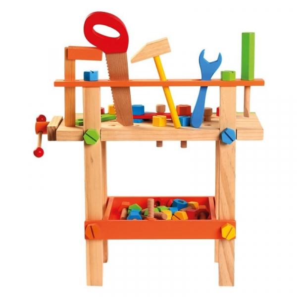 Drewniany warsztat z narzędziami (82149)