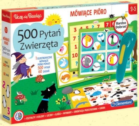 Mówiące Pióro 500 pytań - Zwierzęta (50649)