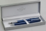 Zestawy piśmiennicze: pióro i długopis w etui Titanum niebieski (10Fb1-dc)