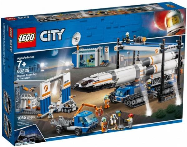 Klocki City 60229 Transport i montaż rakiety (60229)