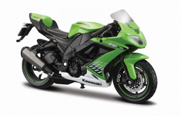 Model Motocykl Kawasaki Ninja ZX-10R z podstawką (10139300/77249)