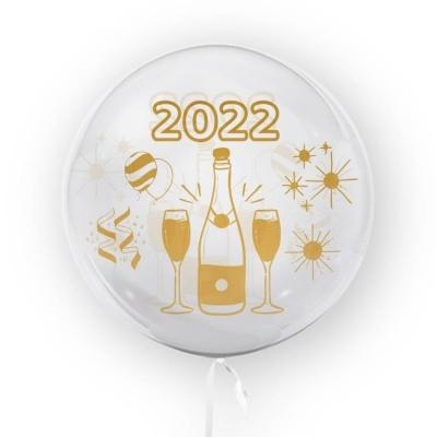 Tuban, balon 45 cm - Nowy Rok 2022 (TB3649)