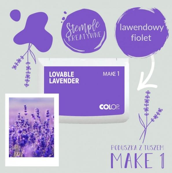 Poduszka do stempli Make 1 - lawendowy fiolet (155132)