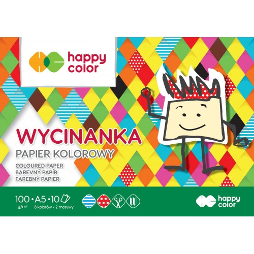 Blok wycinanka Happy Color, A5/10K 100g/m²