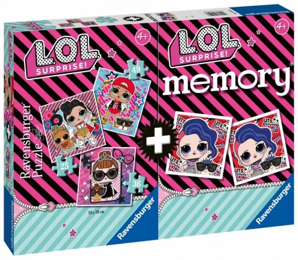 LOL Suprise - Puzzle 3w1 + Memory (205493)