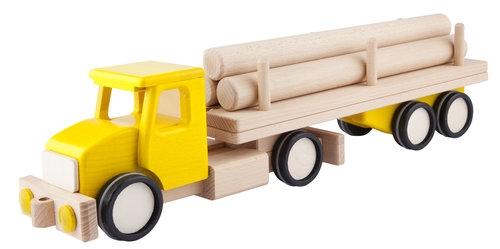 Duża ciężarówka z balami Żółta